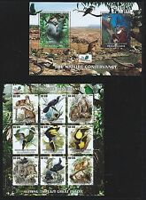 Mauritania Nature Conservation 9 Stamps and 1 S/S MNH