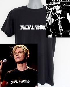 David Bowie t-shirt - metal world design worn by bowie