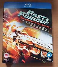 Fast and Furious 1-5 (with slip)  (VGC)(Blu Ray) Free  Postage