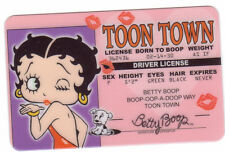 BETTY BOOP card Drivers License TOON TOWN boop Born to Boop kissy lips kiss
