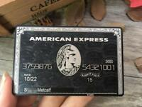 Custom Gift Card American Black Card 6B