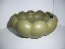 Vintage Avocado Green 509 Floraline McCoy Scalloped Bowl, Lot of 3, Antique