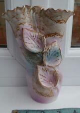 Studio pottery Spill vase. très jolie rose organique forme.