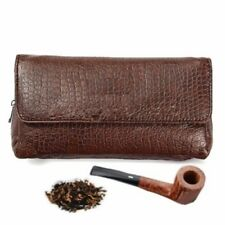 Brown PU Leather Smoking Pipe Case Pouch Tobacco Bag Tamper Filter Tool