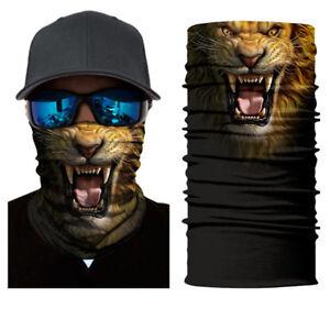 2020 Animal Lion Face Sun Scarf Neck Gaiter Balaclava Scarf Sporting Headwear