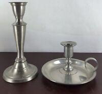 Vintage Candle Holder Set Of 2  Silver Plate