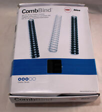 "32mm A4 PLASTIC BINDING COMBS - 21 RINGS (BOX OF 44) BLACK -""GBC IBICO"""