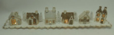"CHM - ""A Mantle Size Putz Village"" Silver and Gold"