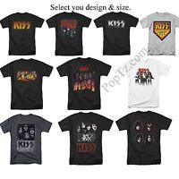 KISS Rock Band Classic Heavy Metal Army Face Tour Destroyer Logo T-shirt S - 5XL
