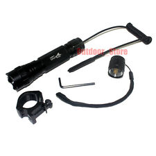 UltraFire 501B CREE XM-L L2 LED 1Mode Tactical Flashlight + Remote Switch Mount