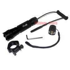 UltraFire 501B CREE XM-L L2 LED 1Mode Tactical Flashlight + Remote Switch Mount