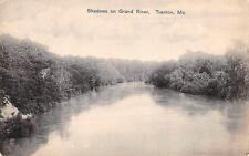TRENTON, MO  Missouri   SHADOWS ON GRAND RIVER    c1910's Black & White Postcard