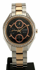 Citizen Eco Drive Rose Gold Tone Swarovski Crystal Ladies Watch FD1066-59H