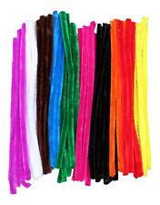 50 scovolini gigante ciniglia steli 30 x 12mm assortiti colori Craft Pack