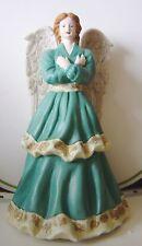 "New Angel International Bazaar Figurine Christmas Holiday Resin 9"" Blue White"