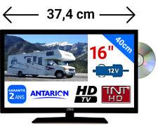 """Combiné TELEVISEUR TNTHD + LECTEUR DVD LED 16"""" 40CM HD USB - CAMPING CAR 12 VOLT"""