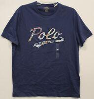 Polo Ralph Lauren Mens Blue Polo Logo Cotton Crewneck T-Shirt NWT Size XL