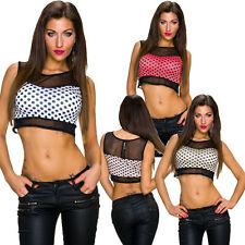 Bauchfreie ärmellose Damenblusen, - tops & -shirts für Party-Anlässe