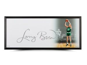 Larry Bird Signed Autographed 20X46 Framed Photo The Show Celtics Huge Auto UDA