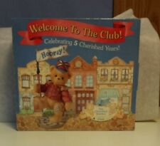 *Cherished Teddies 5 Year Anniversary Welcome To The Club Set, Ct005, Lanny, Nib
