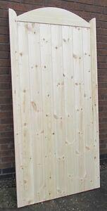 Wooden Garden Side Gate Framed, Ledge & Braced 6ft 1800mm Plus Curved Top
