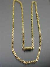 Antico 15ct Oro Cavo Link collana catena 17 pollici C.1880