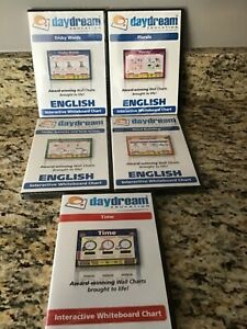 DAYDREAM EDUCATION / LOT OF 5 INTERACTIVE WHITEBOARD SOFTWARE / NEW