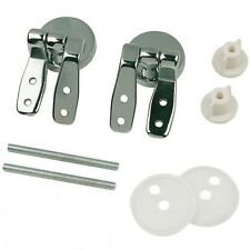 Brass Replacement Chrome Toilet Seat Hinge Pair of Hinges with Fittings Spare