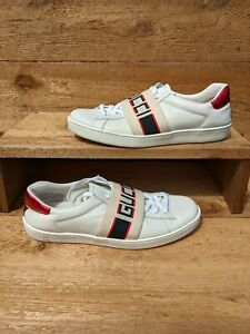 Gucci Ace Stripe elastic band Sneakers, US size 9 (Gucci size 8.5) *authentic*