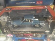 1 18 HIGHWAY 61 1970 MUSTANG MACH 1 MED BLUE METALLIC WITH WHITE INTERIOR #50587