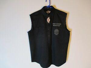 2009 HARLEY DAVIDSON WILLIE G NWT SKULL EMBROIDERED DRESS SHIRT SIZE L NEW