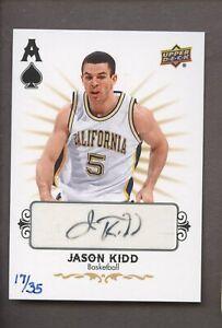 2015 Upper Deck Las Vegas Summit Jason Kidd Signed AUTO 17/35