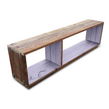 Rustic Wooden Stackable Bookshelf Floating Modular Display Shelving Unit Lilac