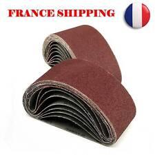 20pcs Ponçage Ceinture Bande Abrasive pour Ponceuse Grain Bois 75X457mm