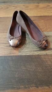 Ann Taylor LOFT Women's Taupe Ballet Flats Shoes Size 7.5 M