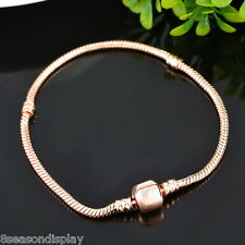 5PC Fashion Rose Gold European DIY Snake Chain Fits Charm Bracelet 17cm Long