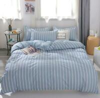 3D Blue White Vertical Stripes KEP7054 Bed Pillowcases Quilt Duvet Cover Kay