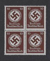MNH Stamp Block / PF10 1934 Issue / Large WWII emblem / Third Reich / MNH