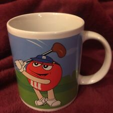 Yellow & Red M&M Candy Sports Coffee Tea Mug CUP Baseball & Golf  Galerie 2003
