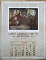 Tempe, AZ 1920 Advertising Calendar: Alfred J. Peters, Hay/Grain/Seed - Arizona