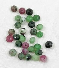 Natural RUBY ZIOSITE faceted rondelle bead / strand 3mm(w) x 3mm(l) - 30 beads