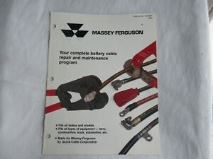1990 Massey Ferguson battery cable repair and maintenance program brochure
