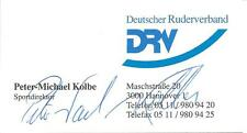 Autogramm Peter Michael Kolbe auf Visitenkarte, Silber Olympia 76, 84 und 88