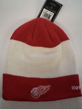 Detroit Red Wings Knit Beanie Toque Winter Hat Skull Cap NHL Center Ice R/W/R
