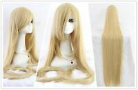 60inch/150cm Extra Long Straight Blonde/Beige Cosplay Party Wig with Comb ZY50A