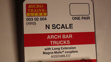 MICRO-TRAINS #003 02 004 ARCH BAR TRUCK WITH LONG EXTENSION COUPLER (1012)