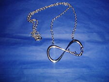 """One Direction Infinity Necklace 24"""" Silver New!"""