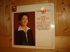 MARIA CALLAS in Verdi La Forza del Destino SERAFIN EMI 3 LP BOX EX/NM