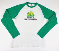 Seattle Supersonics Women's Long Sleeve Shirt NBA American Apparel Sz Medium