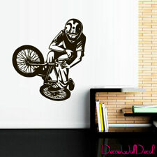 Wall Decal BMX Rider Sticker Bike Bicycle X Games Racing Cycle Jump Teen M1648